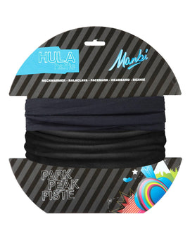 Manbi Adult Hula Halfie Plain Neck Warmer - Black