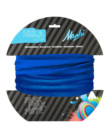 Manbi Adult Hula Halfie Plain Neck Warmer - Olympic Blue