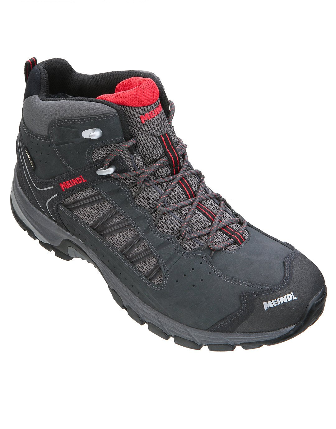 a16a380c67f Meindl Mens Journey Mid GTX Walking Boot - Anthracite Red