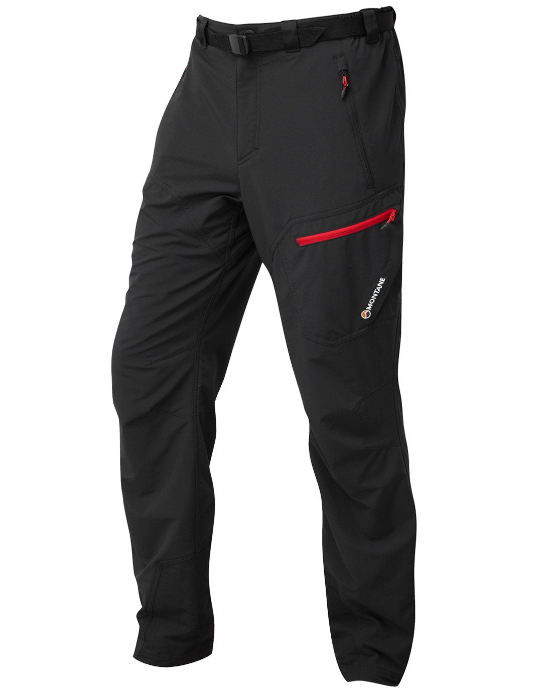 Mens Alpine Trek Pants Regular - Black - Medium Black