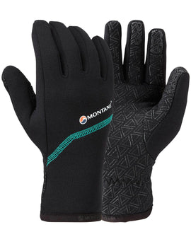 Montane Womens Power Stretch Pro Grippy Glove - Black Siberian