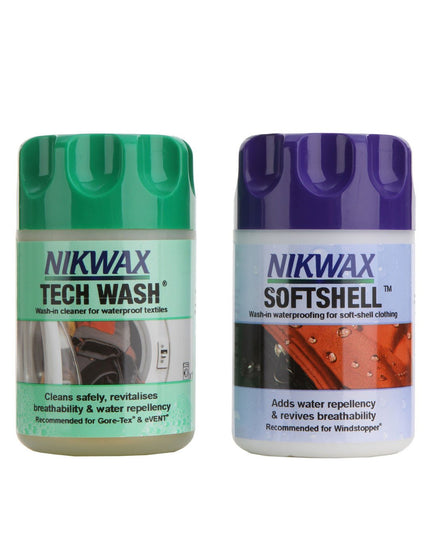 Nikwax Softshell and Techwash 150ml Twin Pack