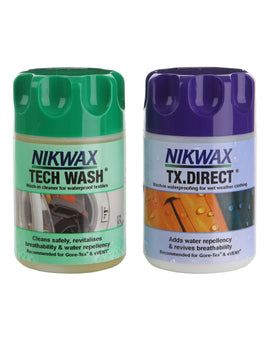 Nikwax Tech Wash and TX Direct Wash In Twin Pack