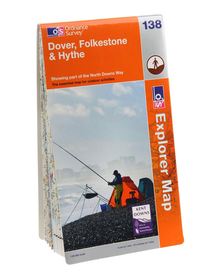 Ordnance Survey Explorer Dover Folkestone and Hythe Map