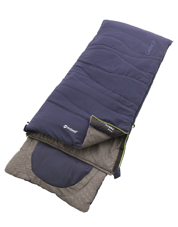 Outwell Contour Jnr Sleeping Bag - Royal Blue