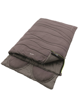 Outwell Contour Lux Double Sleeping Bag - Grey