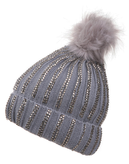 Pia Rossini Calista Beanie Hat - Silver Grey