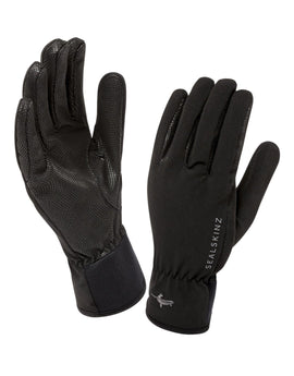 SealSkinz Mens Sea Leopard Glove - Black