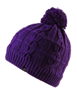 SealSkinz Waterproof Cable Knit Beanie Hat - Purple