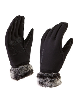 SealSkinz Womens Stretch Fleece Nano Lux Glove - Black