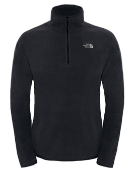 The North Face Mens 100 Glacier Quarter Zip Fleece - TNF Black