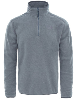 The North Face Mens 100 Glacier Quarter Zip Fleece - TNF Grey