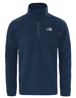 The North Face Mens 100 Glacier Quarter Zip Fleece - Urban Navy