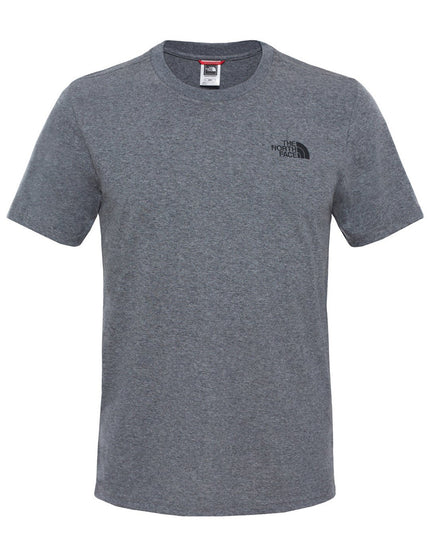 The North Face Mens SS Simple Dome Tee - TNF Medium Grey Heather