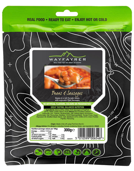 Wayfayrer Beans and Sausage Meal Pouch