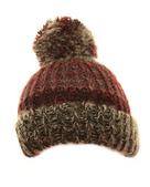 Girls Jano Chunky Knitted Bottle Hat - Dark Pink