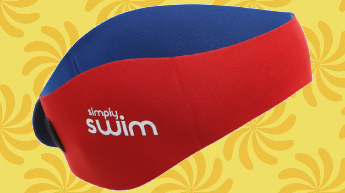 SWIM EAR BAND - Designed to Keep Water Out & Hold Earplugs in
