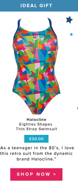 Shop Halocline Eighties Shapes Thin Strap Swimsuit