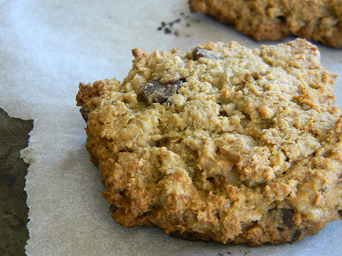 Oat and banana cookies