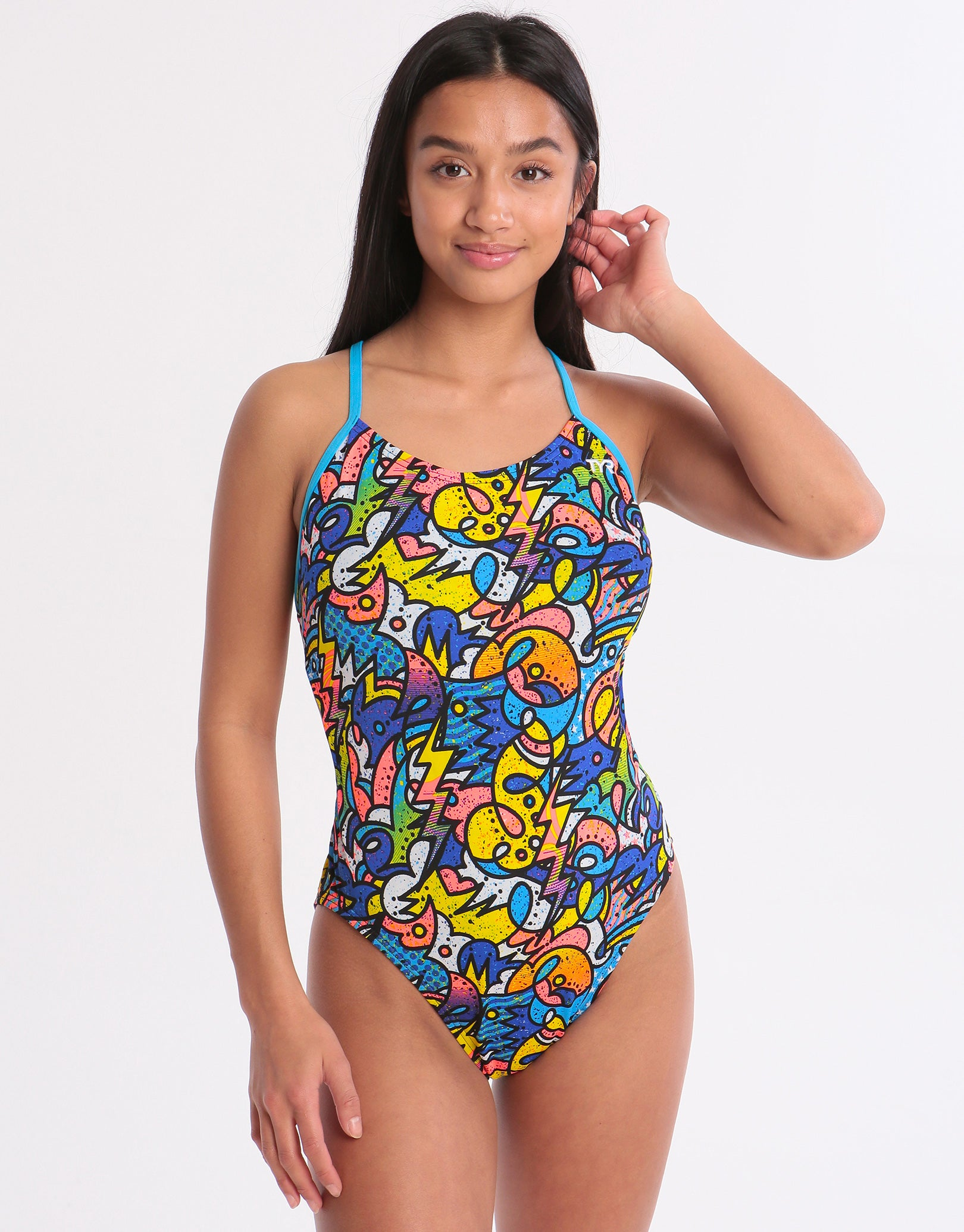 adb90293925 Tyr Astratto Cut Out Fit Swimsuit
