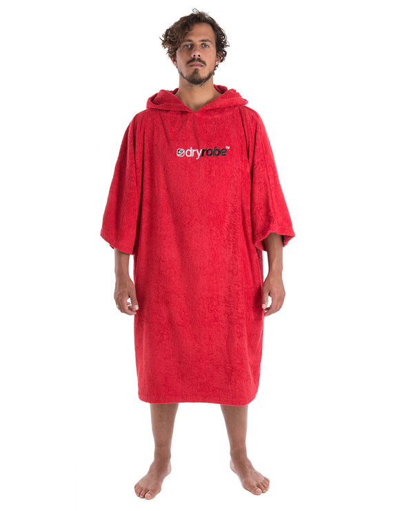 Dryrobe Short Sleeve Towel Dryrobe - Adult - Red