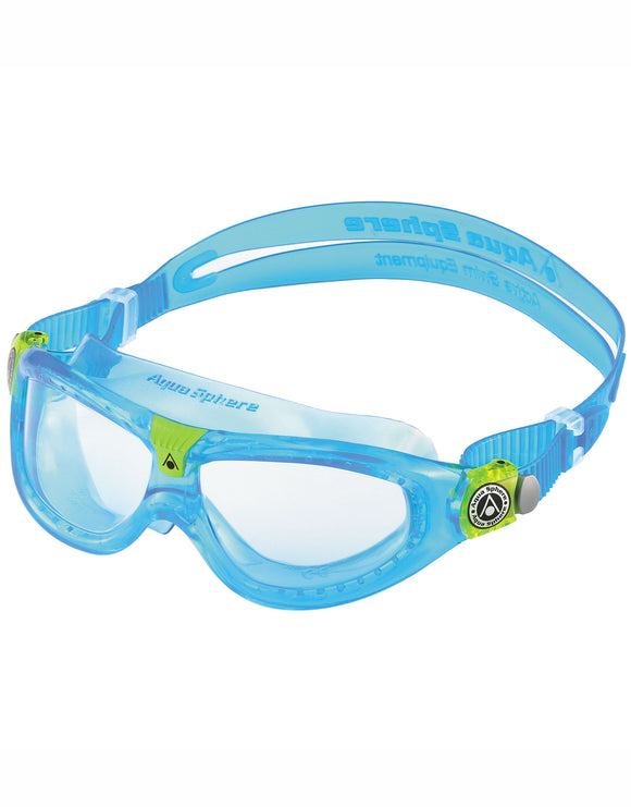Aqua Sphere Seal Kid 2 Goggle - Clear Lens - Turquoise/Lime