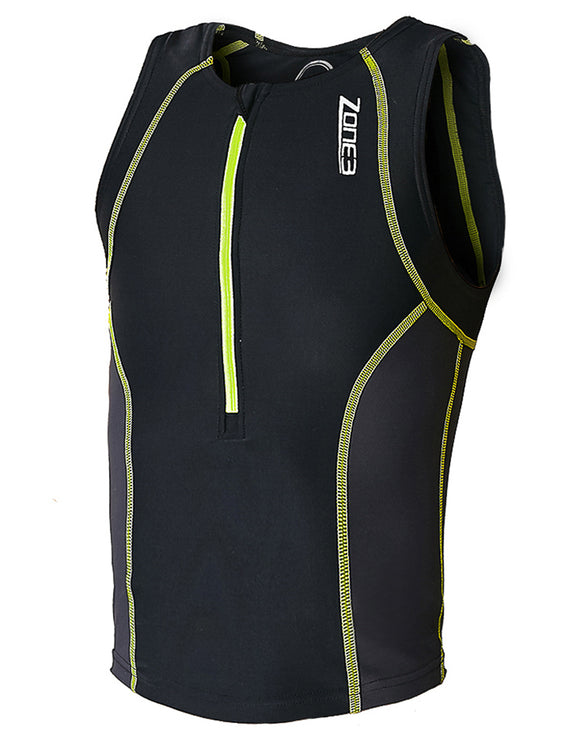 Zone 3 Youth Tri Top - Black and Hi-Vis Yellow