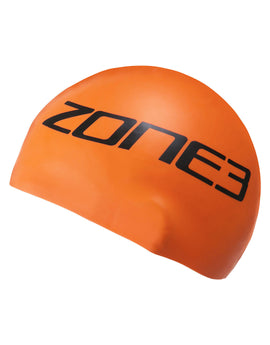 Zone 3 Silicone Swim Cap - High Vis Orange