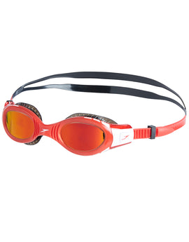 Speedo Junior Futura Biofuse Flexiseal Mirror Goggle - Lava Red