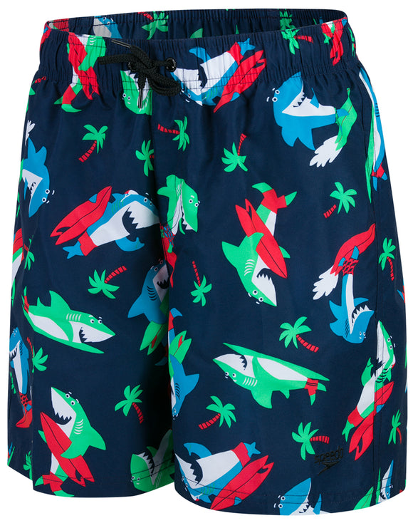 Speedo Boys Shark Surfer Printed Leisure 15 inch Watershort