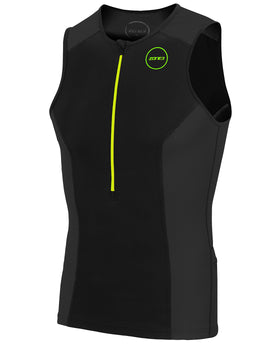 Zone 3 Mens Aquaflo Plus Top - Black and Green