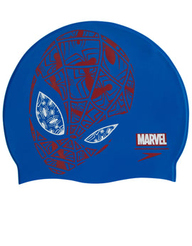 Speedo Marvel Spiderman Junior Slogan Swim Cap