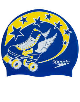 Speedo Rollerskate Junior Slogan Swim Cap