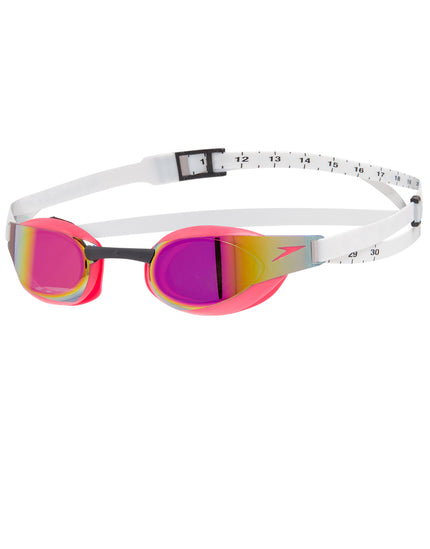 Speedo Fastskin Elite Mirror Goggle - Psycho Red and White