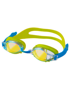Nike Junior Chrome Mirror Goggle - Blue