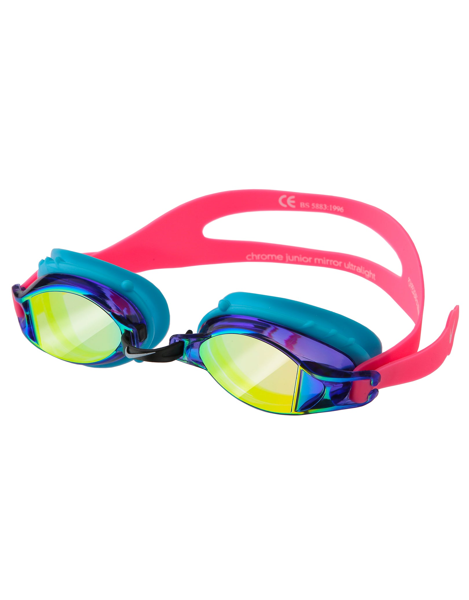 9ba3bef5df43 ... Nike Junior Chrome Mirror Goggle - Racer Pink