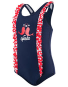 Speedo Tots Girls Frill Swimsuit
