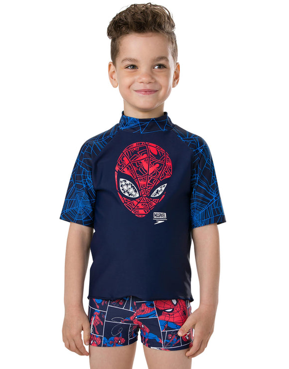 Speedo Tots Boys Marvel Spiderman Sun Top