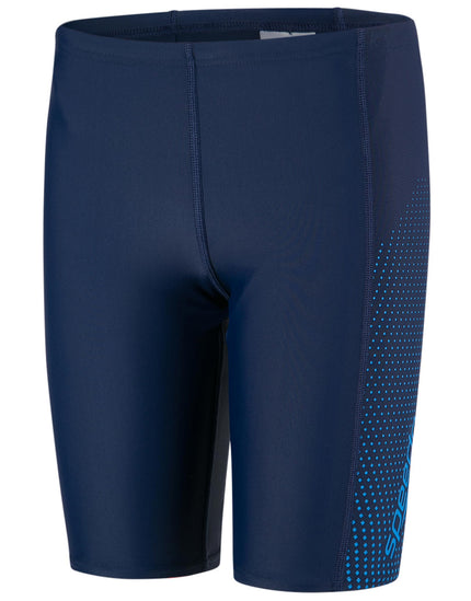 Speedo Boys Endurance 10 Gala Logo Panel Jammer - Navy and Blue