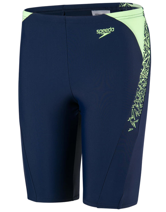 Speedo Boys Endurance 10 Boom Splice Jammer - Navy and Zest