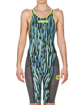 Arena Limited Edition Powerskin Carbon Ultra Full Body Short Leg - Blue Drops