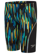 Speedo Boys Fastskin Junior LZR Racer X Jammer - Black and Chroma Blue