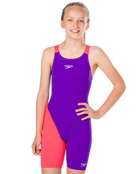 a4150f71f1 Speedo Girls Fastskin Endurance Plus Openback Kneeskin - Purple and Red