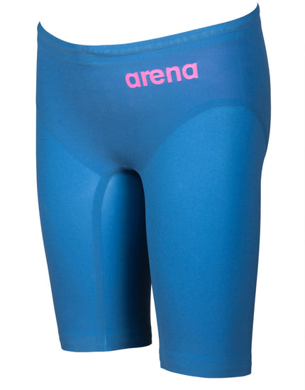 Arena Boys Powerskin R-EVO One Jammer - Blue and Powder Pink