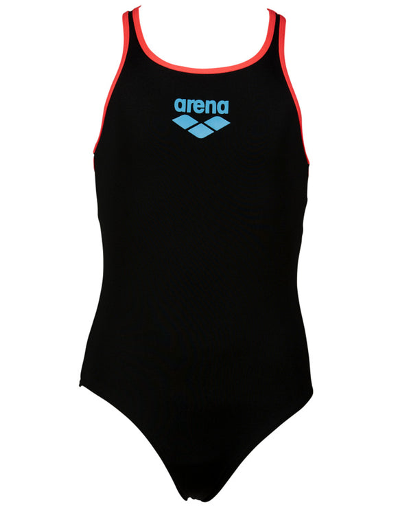 Arena Girls Big Logo Swim Pro Back Swimsuit