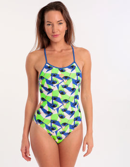 06fdd35495789 Arena Eyes Tie Back Swimsuit