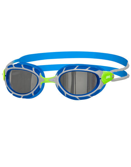 Zoggs Predator Mirror Junior Goggle - Green/Blue/Mirror