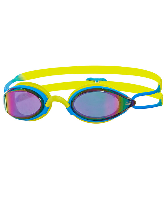 Zoggs Podium Titanium Mirror Goggle - Blue/Lime/Mirror