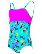 Zoggs Tots Girls Petit Safari Classic Back Swimsuit