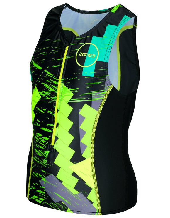 Zone 3 Junior Tri Top - Digital Green